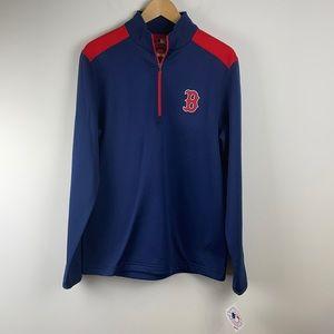 Boston Red Sox 1/4 Pullover Sweater - Size Medium